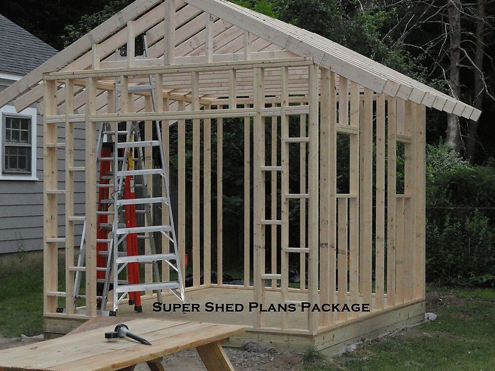 Custom Design Shed Plans, 6x8 Gable Storage, DIY Instructions and Blueprints | eBay