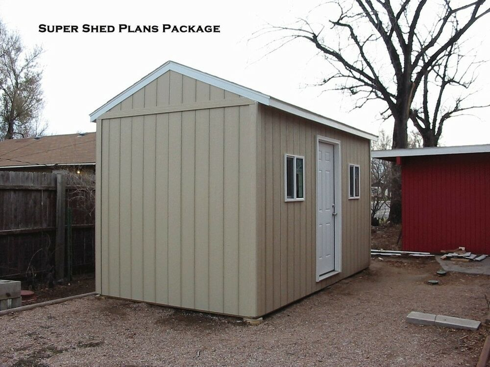 Custom Design Shed Plans 10x20 Large Saltbox Diy