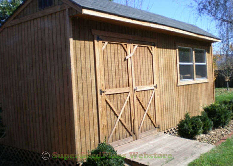 Custom Design Shed Plans 12x16 Gable Storage Diy Wood