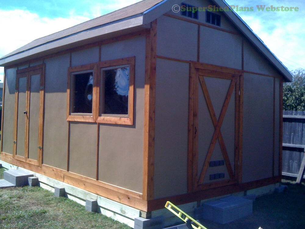 Custom design shed plans 8x12 gambrel wood backyard shed for Garden shed plans