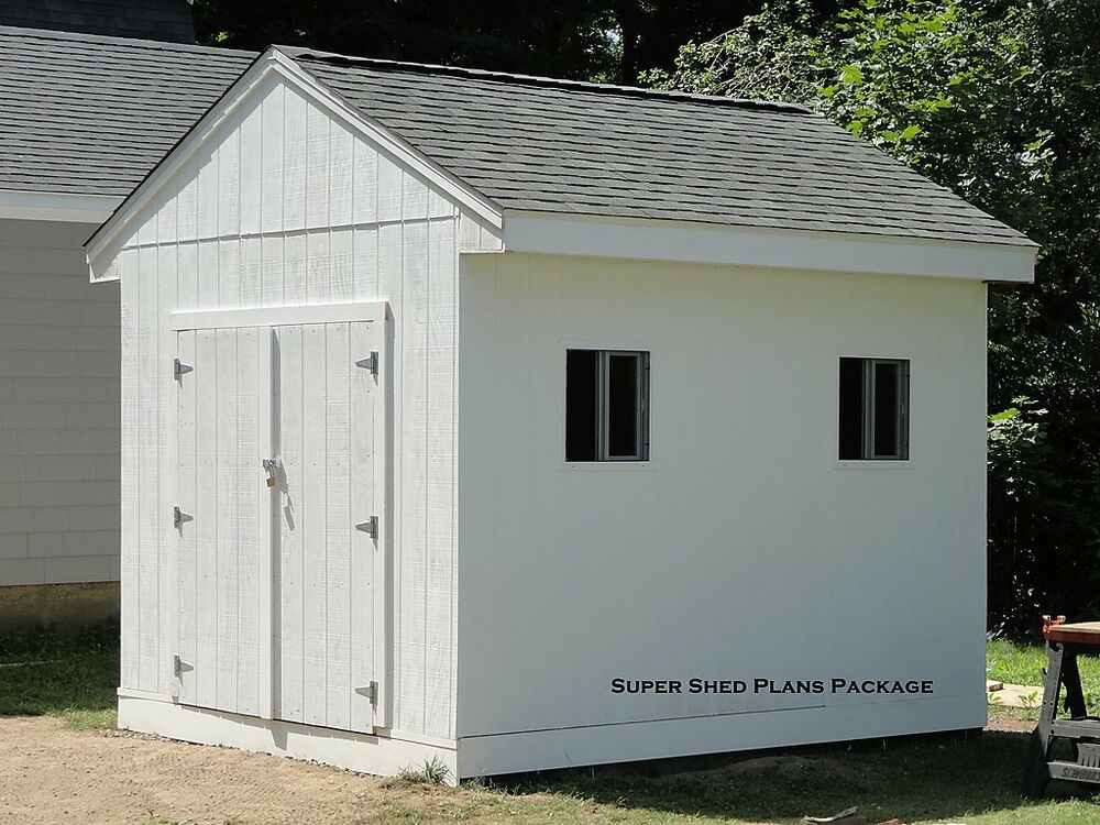 Custom Design Shed Plans 10x12 Medium Salbox Barn Building Plans