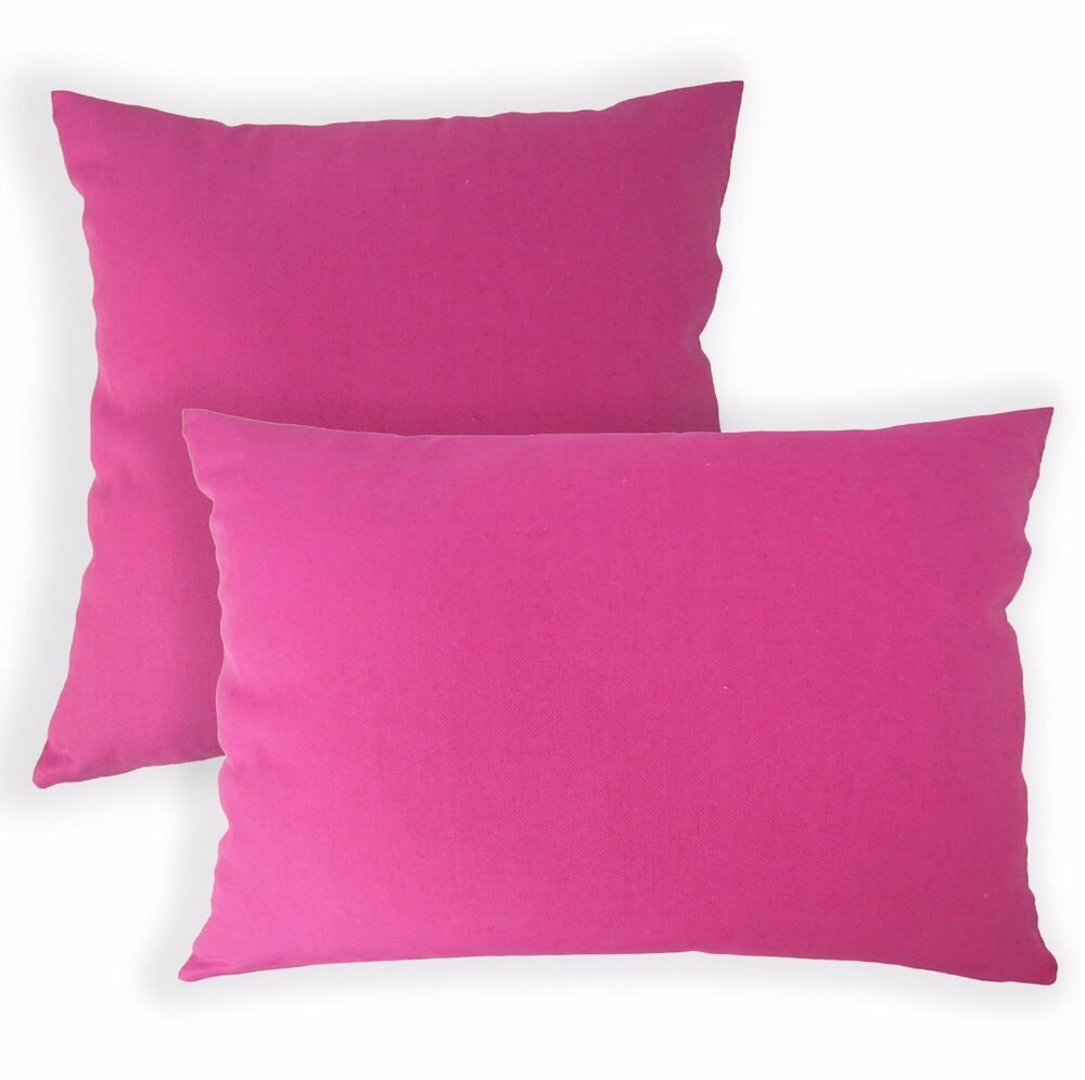 Aa140a Plain Solid Fuschia Cotton Canvas Cushion Cover