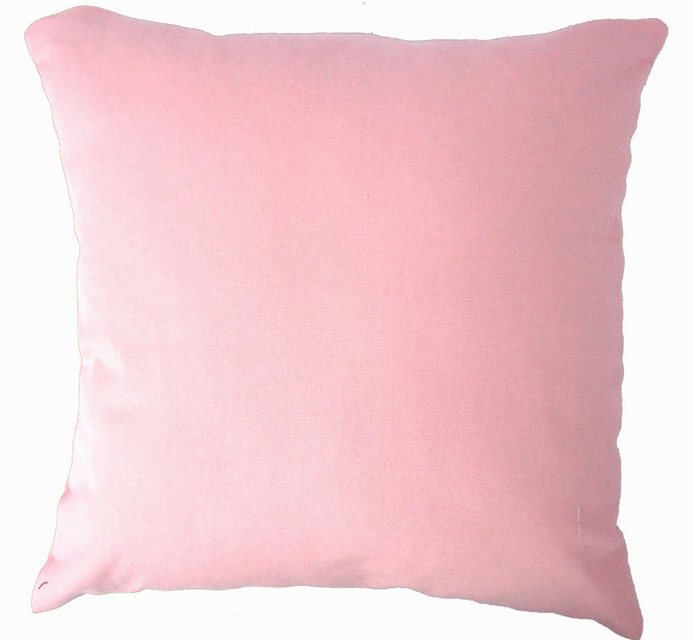 Aa143a Plain Solid Rose Pink Cotton Canvas Cushion Cover/Pillow Case*Custom Size eBay