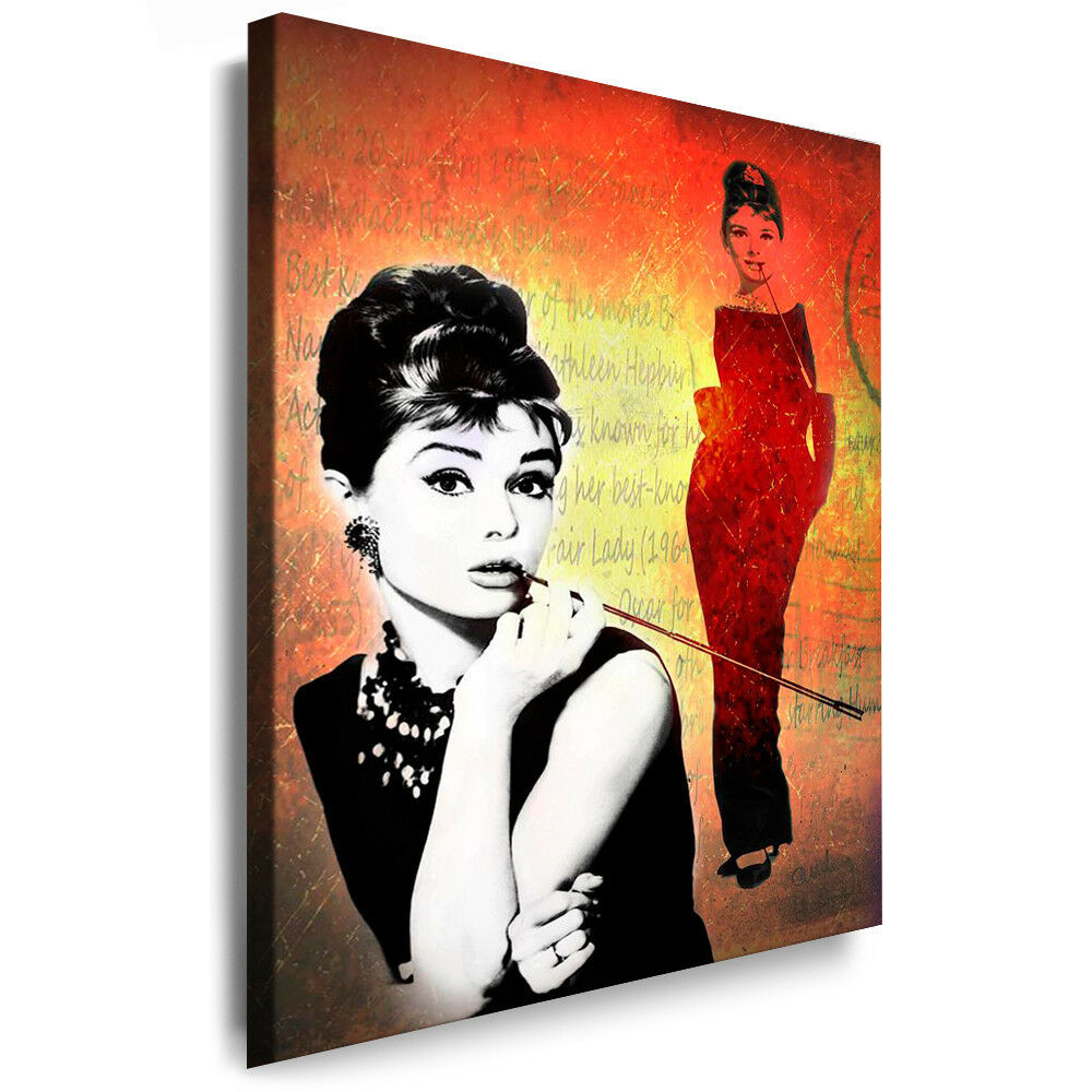 leinwandbilder org audrey hepburn bild auf leinwand. Black Bedroom Furniture Sets. Home Design Ideas