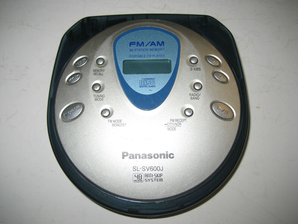 panasonic sl sv600j portable cd player fm am radio. Black Bedroom Furniture Sets. Home Design Ideas