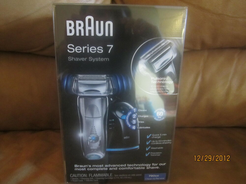 new braun series 7 790cc pulsonic shaver system silver 69055859599 ebay. Black Bedroom Furniture Sets. Home Design Ideas