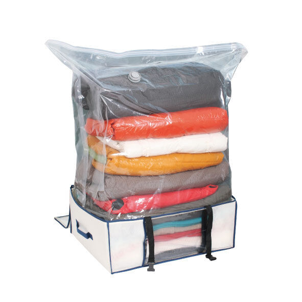 Ast space more space saver vacuum bag tote jacket clothing storage ebay - Clothes storage for small spaces model ...