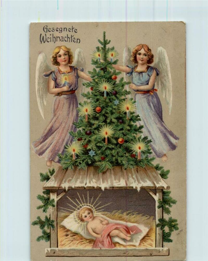 gesegnete weihnachten merry christmas antique postcard. Black Bedroom Furniture Sets. Home Design Ideas