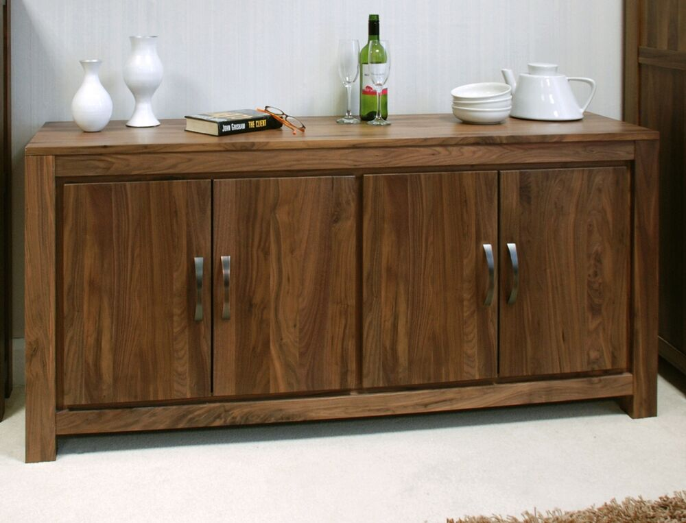 Oskar Solid Walnut Home Furniture Large Low Living Dining Room Sideboard EBay