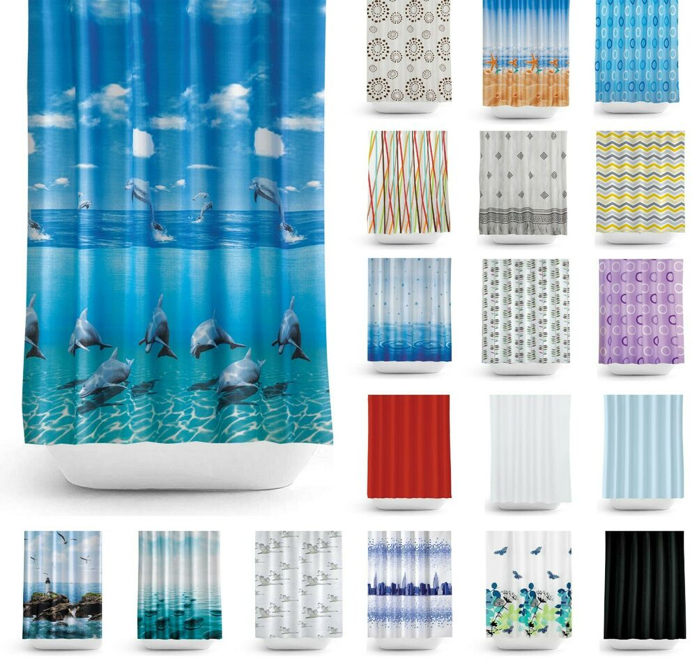 Great Fabric Shower Curtains Extra Wide And Long W240 X L200cm 94 X 78 Ebay
