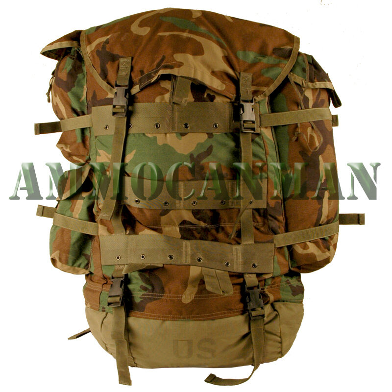 WoodLand Camo Field Pack with Internal Frame-Large