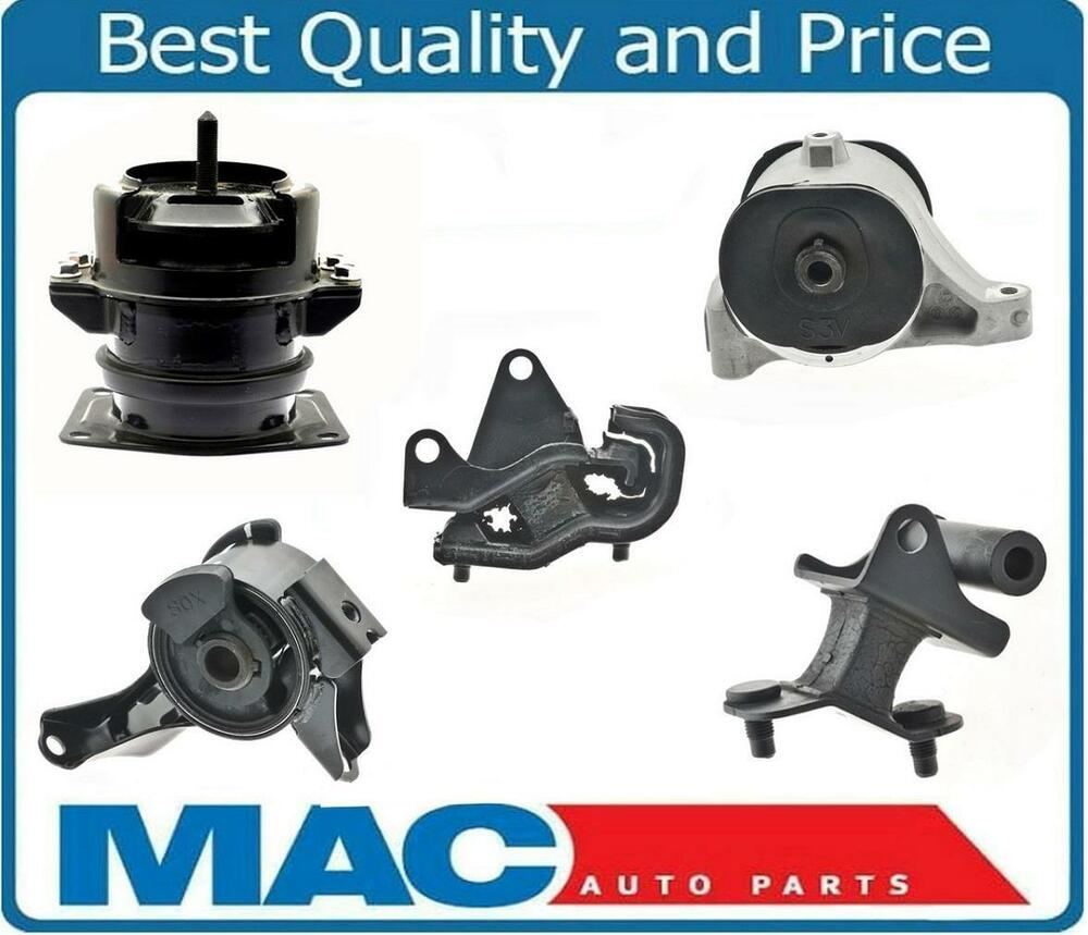 Acura mdx 03 06 3 5l awd transmission and engine motor mounts 5 piece kit ebay Acura motor mounts
