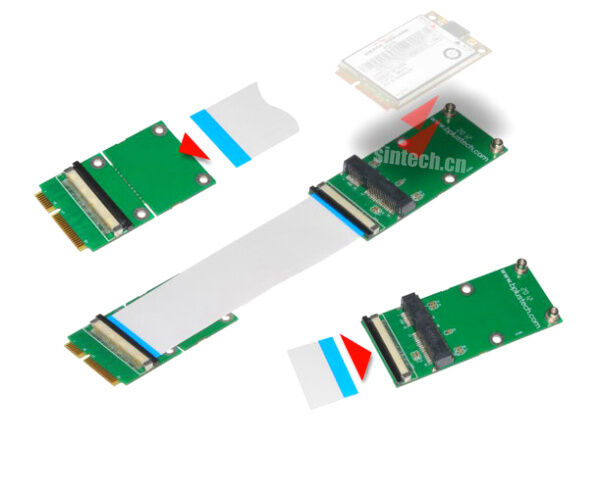 Sintech Mini Pci E Express Msata Extender 20cm Cable For
