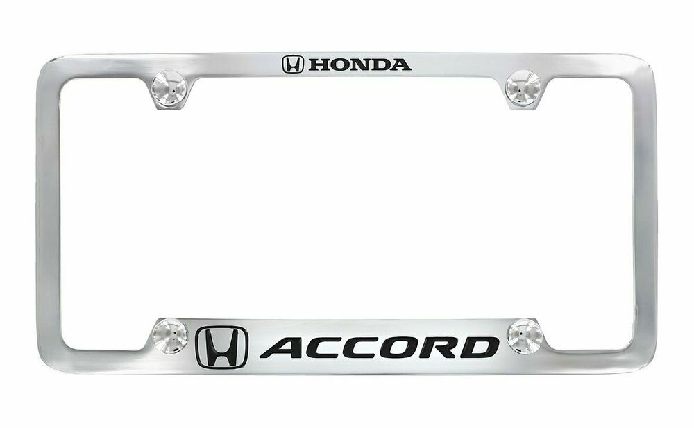 Honda Accord Chrome Plated Metal Bottom Engraved License