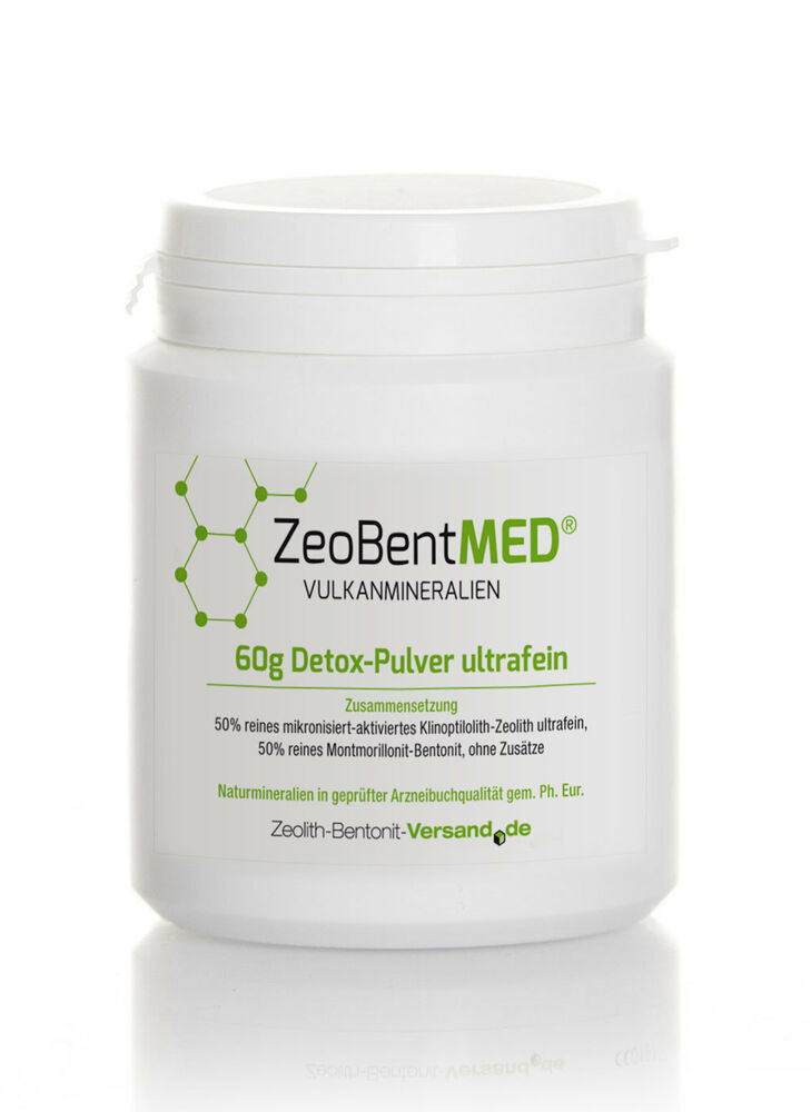 zeobent med detox pulver ultrafein 60g f r 20 tage zeolith uf bentonit ebay. Black Bedroom Furniture Sets. Home Design Ideas