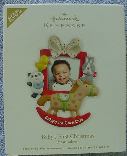 2012 HALLMARK ORNAMENT BABY'S FIRST CHRISTMAS PHOTO HOLDER ...