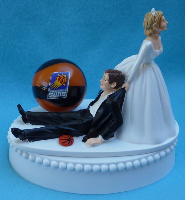 wedding cake toppers miami fl wedding cake topper suns basketball themed 26535