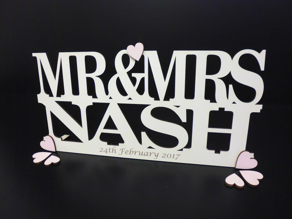Personalised Mr & Mrs Sign Freestanding Top Table Wedding. Wine Cellar Wall Murals. Transfer Decals. Hulk Lettering. Agape Lettering. Mylar Balloon Lettering. Pop Art Stickers. Nap Time Stickers. Gif Animation Banners