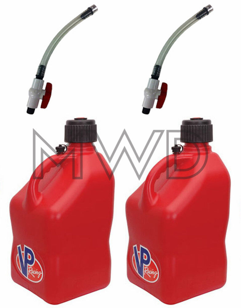 2 Pack VP 5 Gallon Red Racing Fuel Jug Gas Can Jerry Container ...