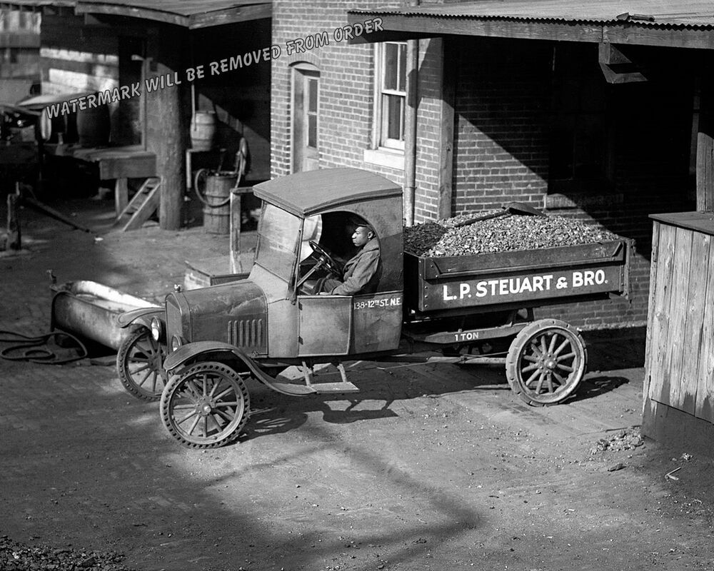 Photograph Steuart Coal Vintage Ford Delivery Truck 1924