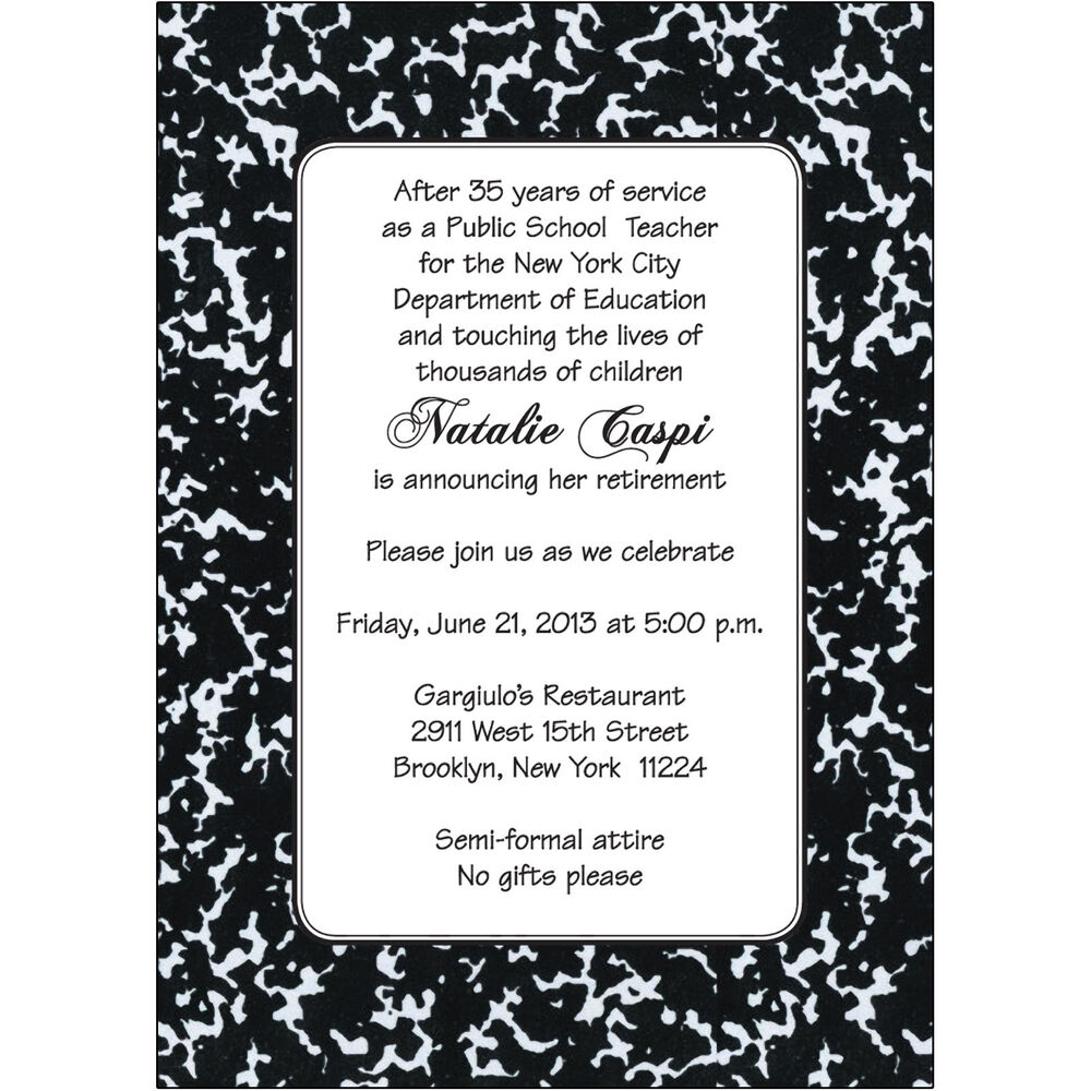 25 Personalized Retirement Party Invitations Rpit 18