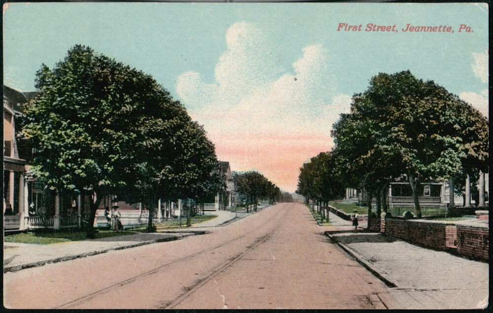 Jeannette Pa First Street Antique Town View Old
