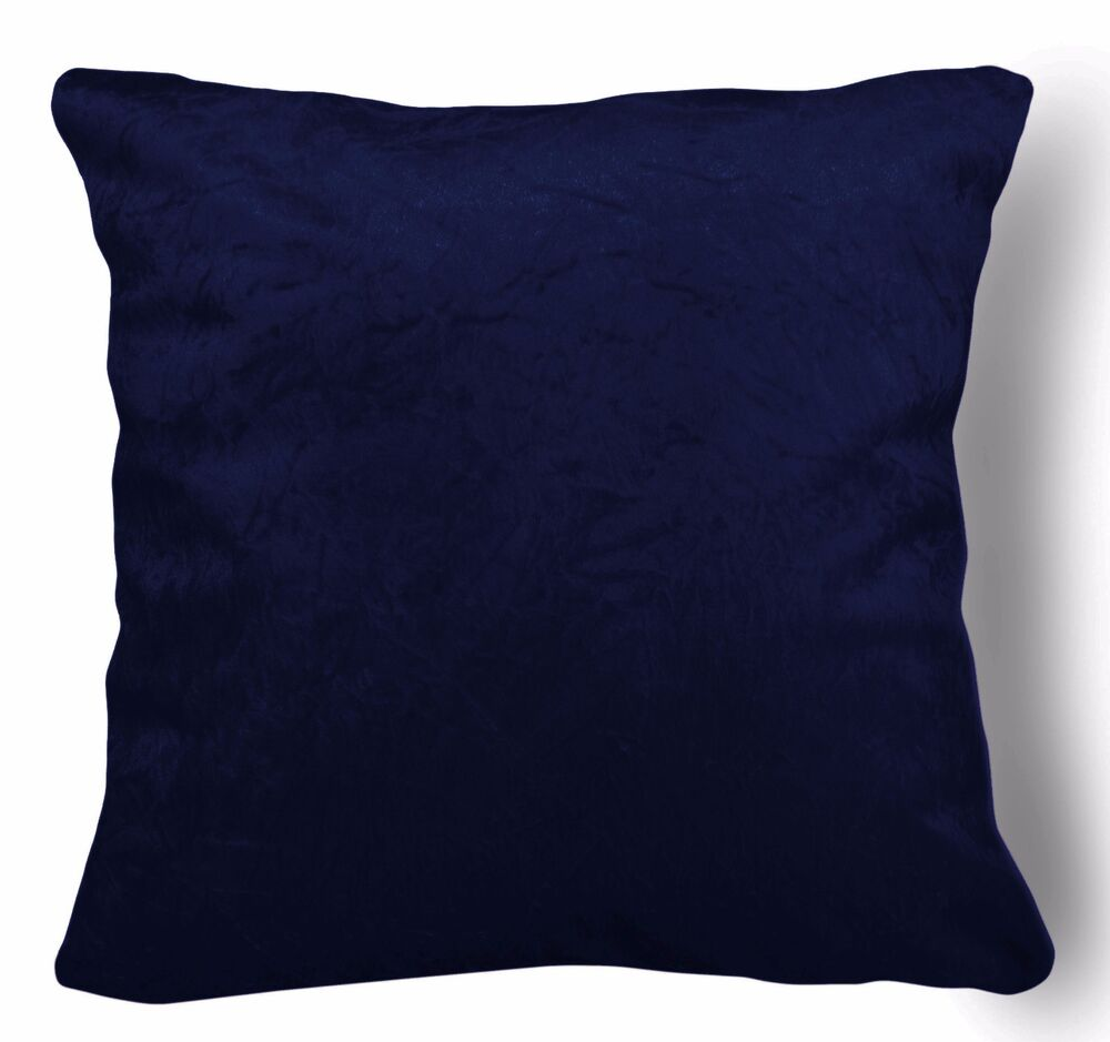 mn115a navy blue crushed velvet style cushion cover pillow. Black Bedroom Furniture Sets. Home Design Ideas