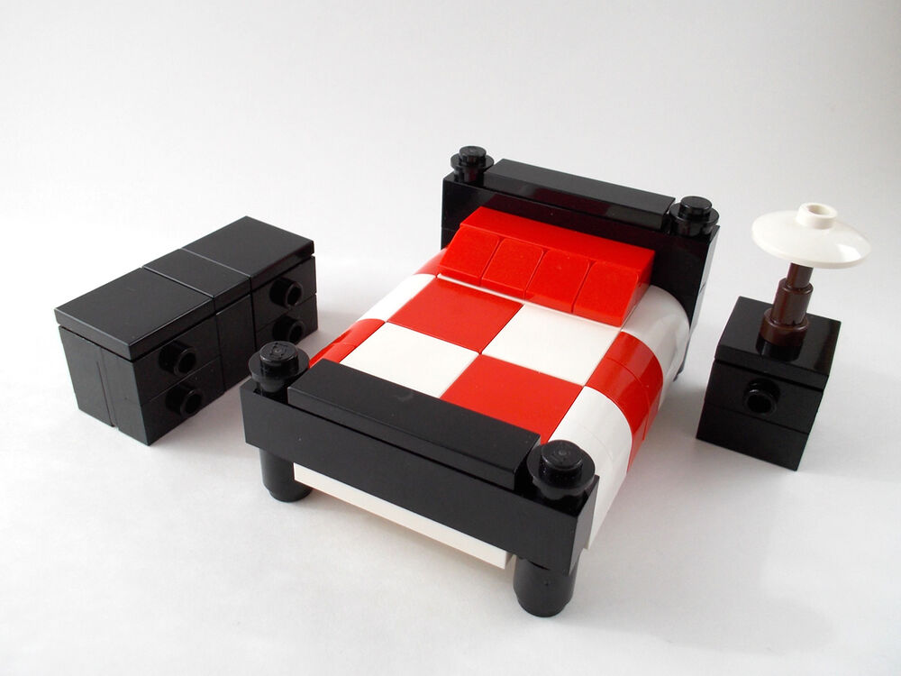 LEGO Furniture Bedroom Set W Bed Nightstand Amp Dresser
