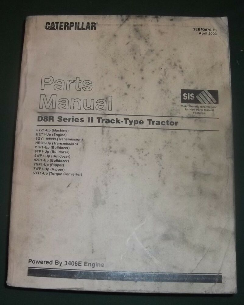 paccar winch division pa140vs caterpillar d8r ii parts manual ebay rh ebay com