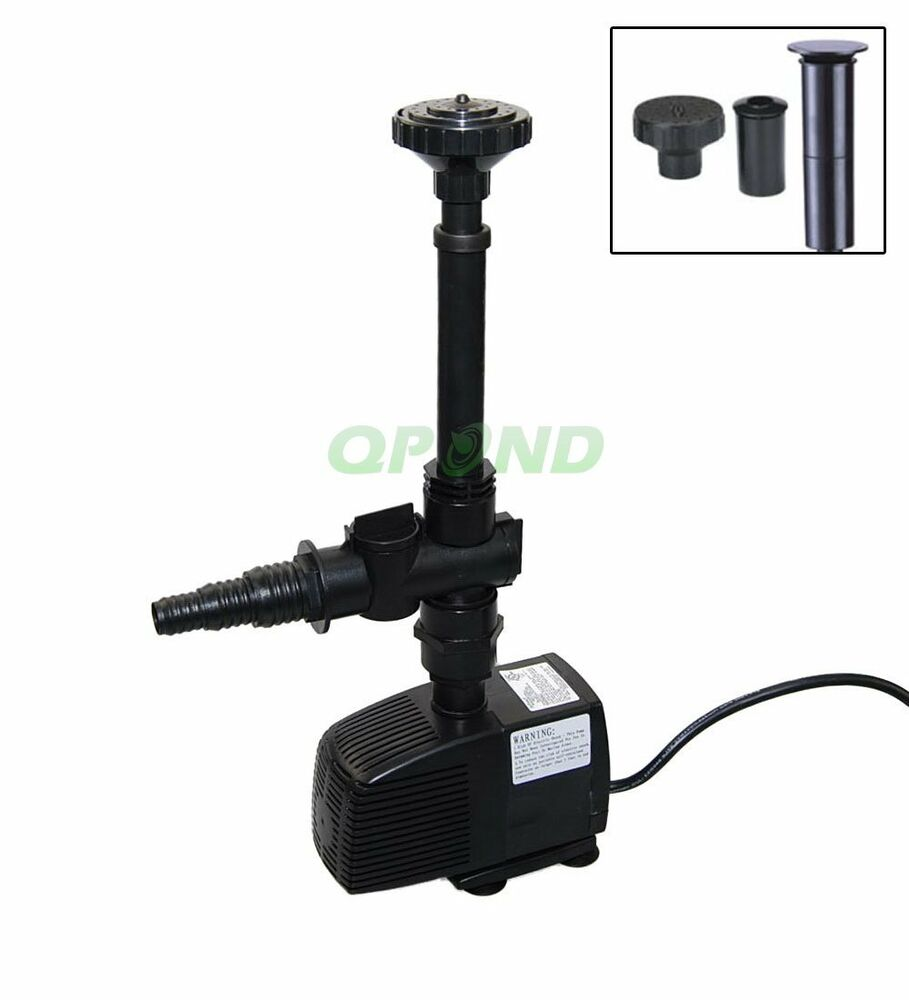 Jebao 792gph submersible pond pump w fountain nozzle head for Pond pump kit