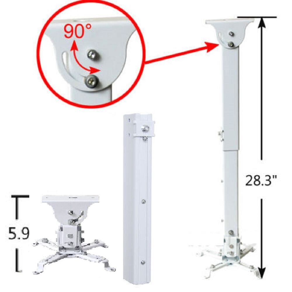 Universal Adjustable Projector Ceiling Wall Mount Bracket