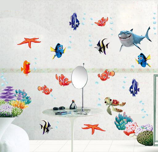 Finding Nemo Fish Wall Stickers Art Paper Sea Bathroom
