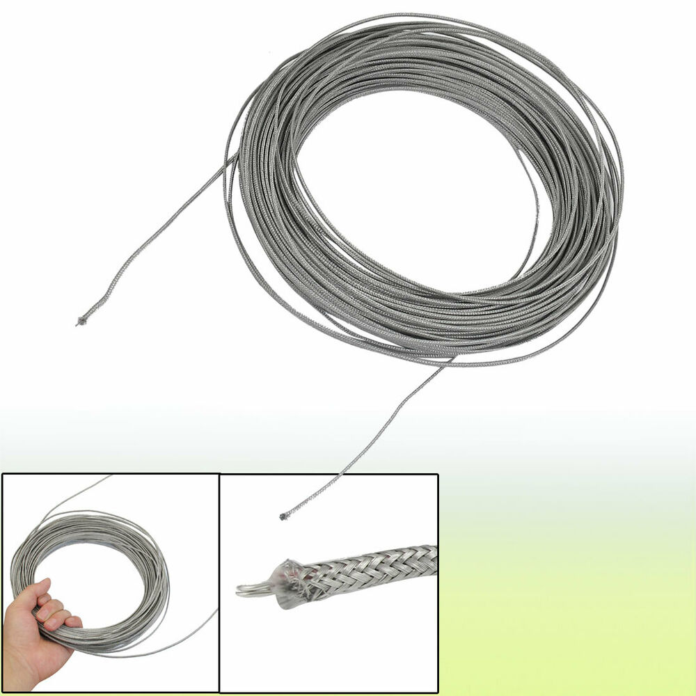 J Thermocouple Wire : M silver tone metal k type thermocouple extension wire
