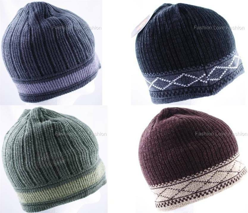 Knitting Pattern Mens Beret : 1 Pack Mens Boy Winter Beanie Knit Hat Cap Thick Premium Headwear Pick 1...