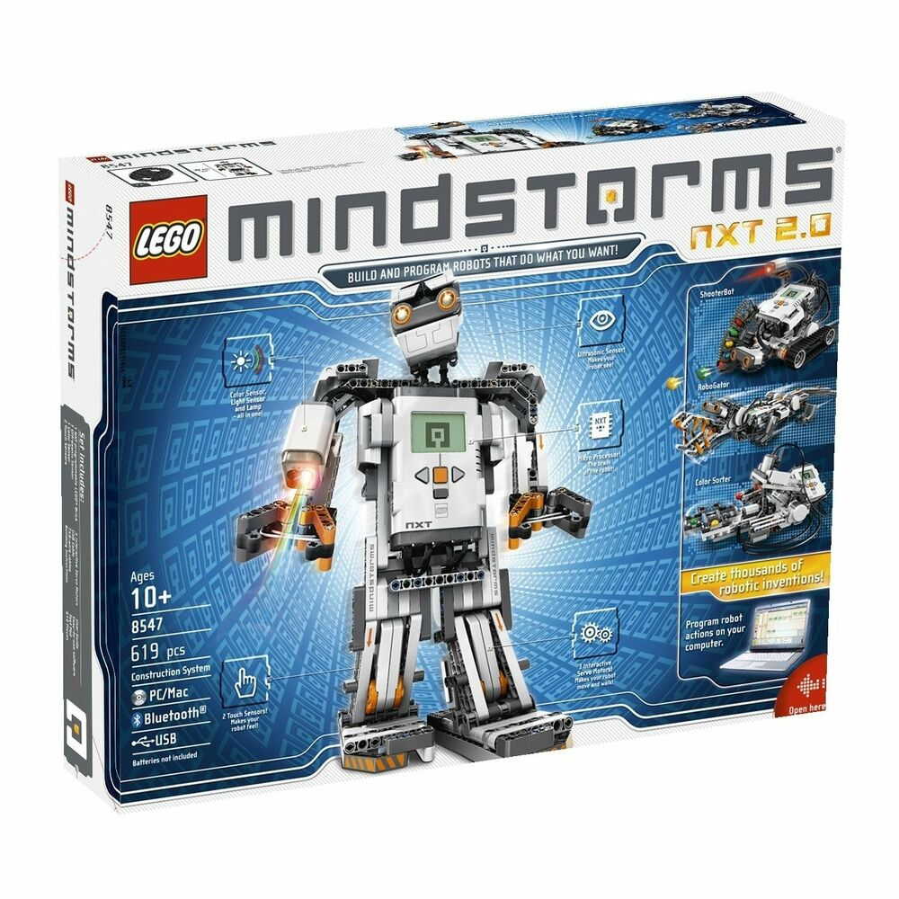 Lego 8547 Mindstorms NXT 2.0 Robotics 4 Robots 32bit microprocessor *Damaged Box | eBay