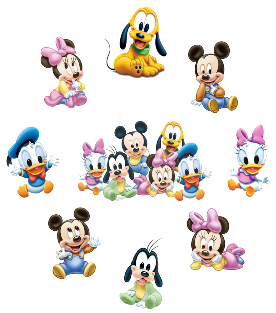 Baby minnie mickey mouse sticker wall decal or iron on transfer t shirt lot mb ebay - Mickey mouse minnie cienta ...