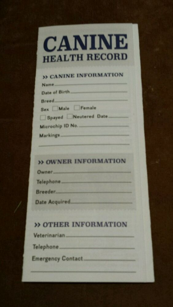 Dog health record template horse health records jeffers for Dog health record template
