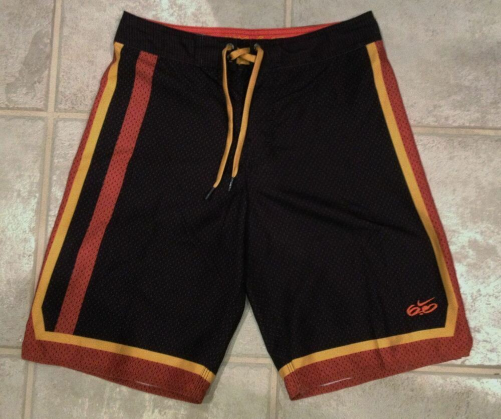 NEW Boys NIKE 6.0 Full Court Black Board Shorts Swim ...