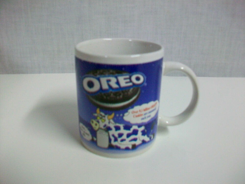 Oreo cookie porcelain collector mug cup with tired cow ebay