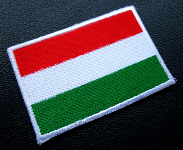 REPUBLIC OF HUNGARY HUNGARIAN NATIONAL FLAG Sew on Patch + Free Shipping