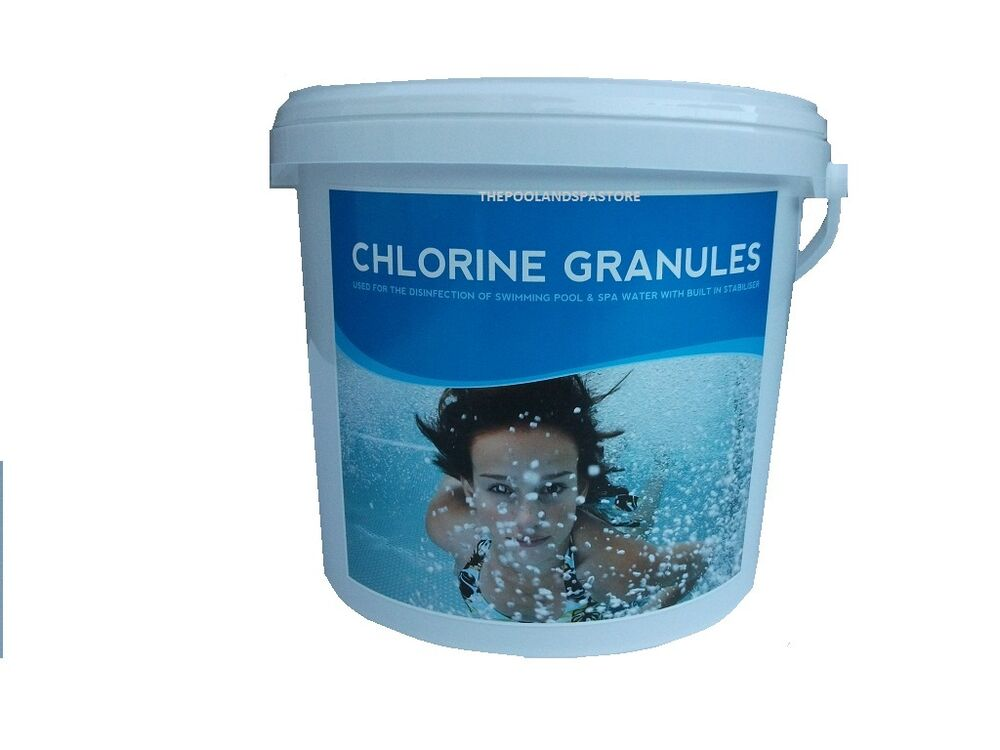 25kg chlorine granules swimming pool and spa chemicals ebay for Chlorination of swimming pools