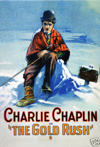 The gold rush Charlie Chaplin movie poster print | eBay