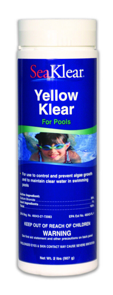 Seaklear Yellow Klear Yellow Algae Treatment For Pools And Spas Ebay