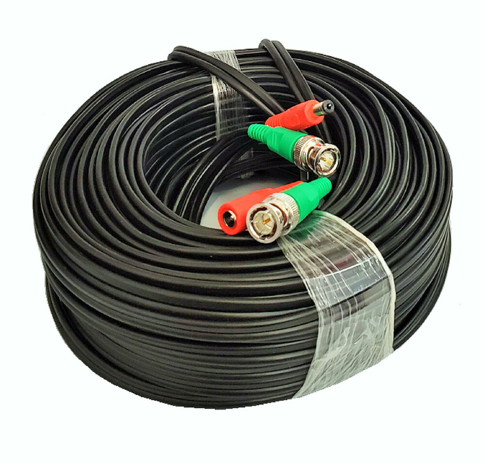 Black 100ft Power Amp Video Cable For Night Owl Security