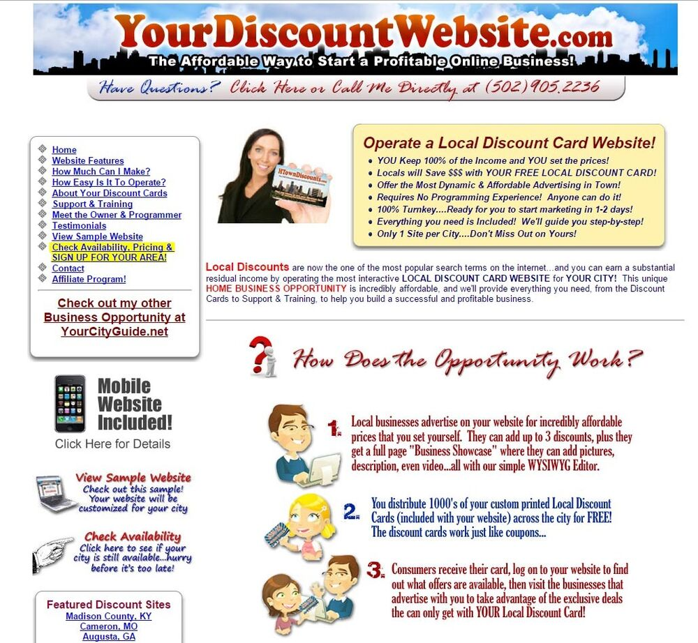 Local Discount Coupons Website Business Opportunity! | eBay