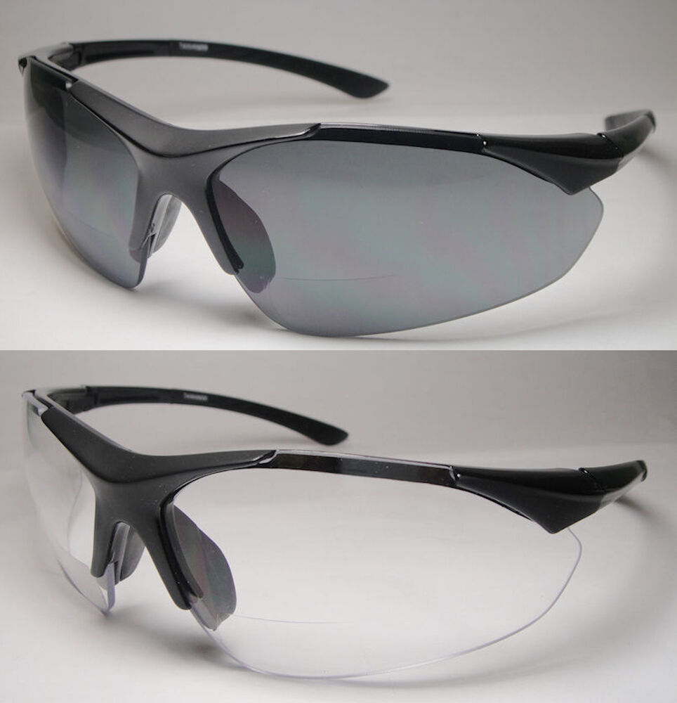 bifocal reading safety sun glasses clear 382bf 1 00 1 50