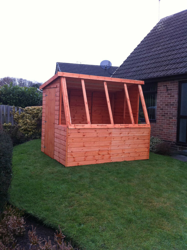 7x5 potting shed quality wooden pent greenhouse super for Garden shed 7x5