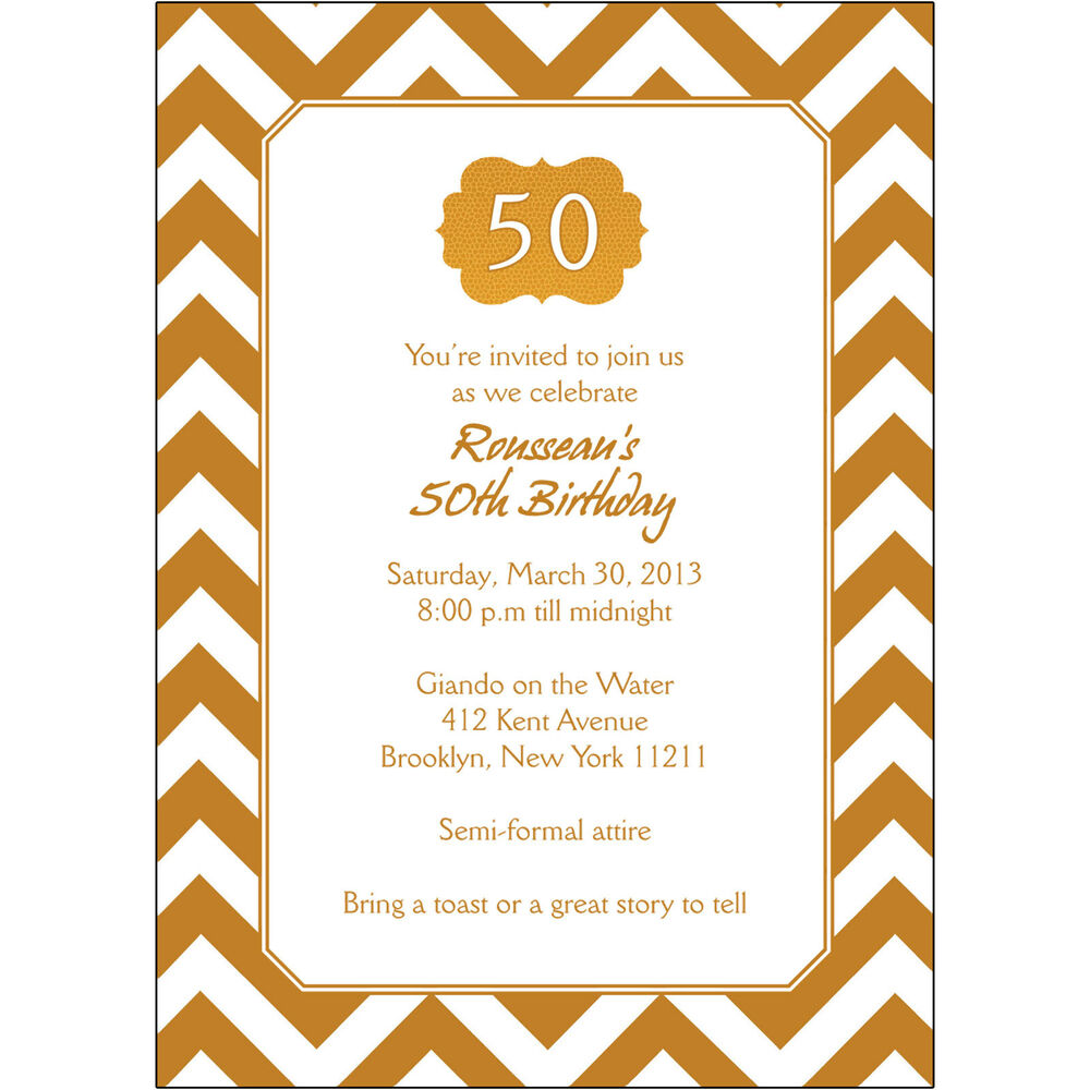 25 personalized 50th birthday party invitations