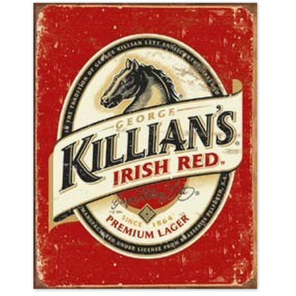 Man Cave Gifts Ireland : George killians irish red retrotin beer sign man cave home
