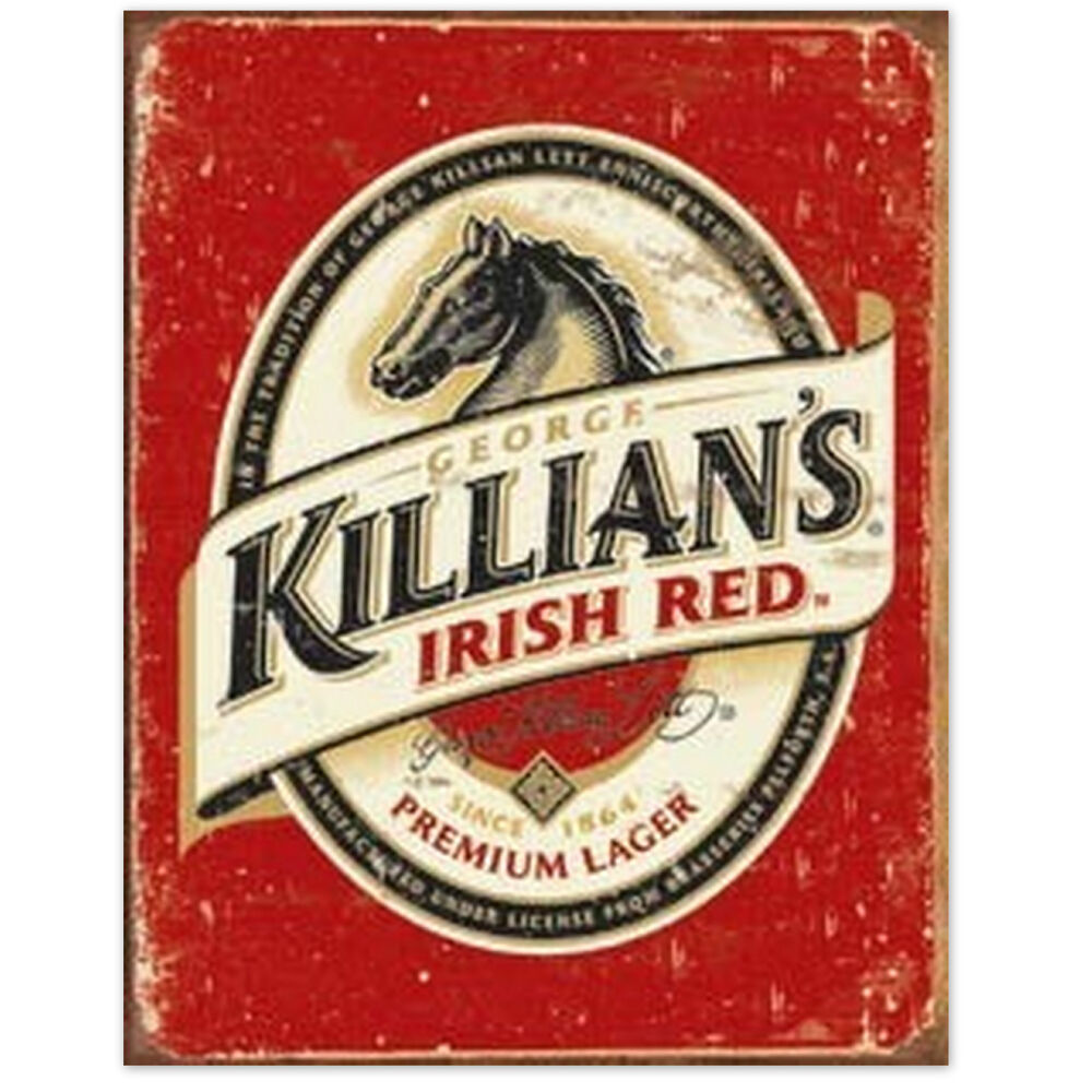 Irish Man Cave Signs : George killians irish red retrotin beer sign man cave home